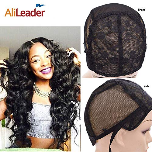 Alileader Double Lace Wig Cap With Adjustable Straps for Making Wigs Wig Making Caps for Black Women...