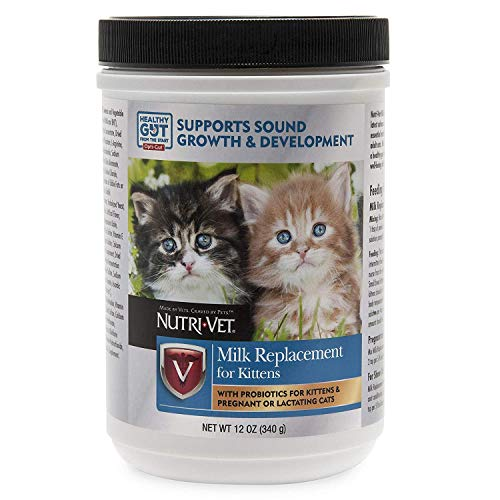 Nutri-Vet Milk Replacement for Kittens with Probiotics, 12-Ounce Pack of 1