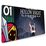 Hollow Knight Minions Extended Gaming Mouse Mat,DIY Custom Professional Mouse Pad (35.5x15.8In),Stitched Edges,Desk Pad Keyboard Pad Mat,Water-Resistant,Non-Slip Base,For Work & Gaming,Office & Home