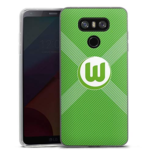 DeinDesign Slim Case extra dünn kompatibel mit LG G6 Silikon Handyhülle transparent Hülle VFL Wolfsburg Trikot Fanartikel