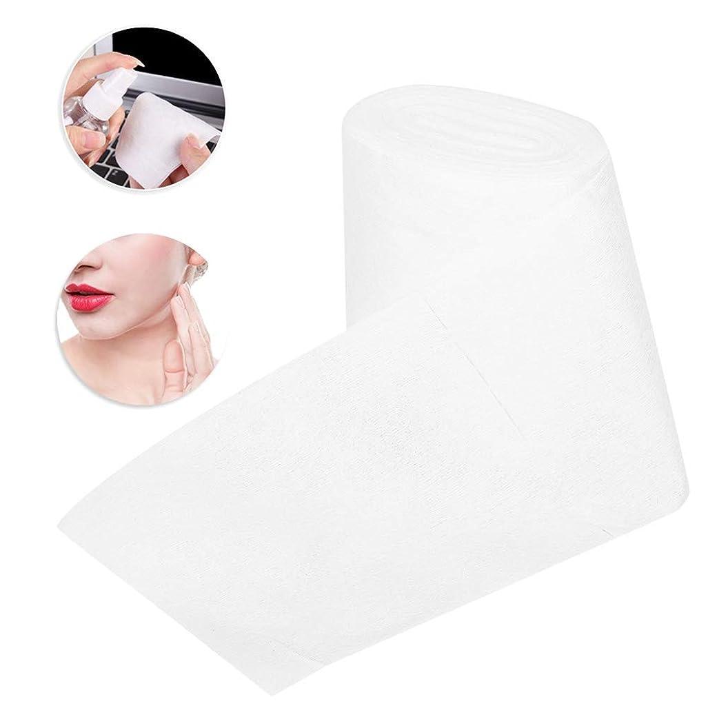 緊張するワイド降ろす不織布 使い捨てタオル メイクアップはクレンジングフェイシャルメイクアップ除去のための綿パッドを拭きます、しっとりと乾燥することができます