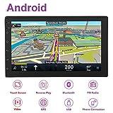 Hakeeta 7pulgadas WiFi Dual DIN Radio Reproductor Estéreo de Coche Multimedia Bluetooth4.0 con Antena GPS para Android 8.1, 2Din MP5 Reproductor con Gran Espacio de 1G + 16G