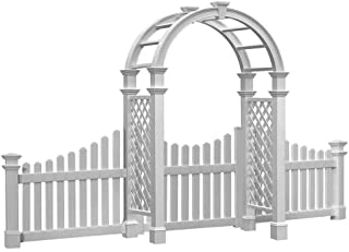 BestNest New England Nantucket Legacy Arbor with Trim, Wings, Gate