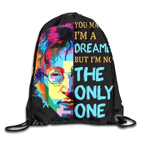 You May Say Im Dreamer But Im Not The Only One John Lennon - Mochila de viaje con cordón, para mujeres y hombres