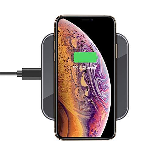 LAHappy Cargador Inalámbrico, 15 W Qi Certificado Carga Rápida, Cargador Inalámbrico Rápido para iPhone 8/9/X/11 Series/12/12 Pro/12 Pro MAX