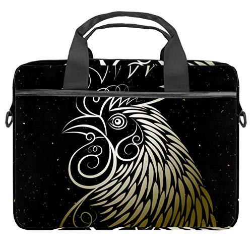 Bolsa de ordenador portátil natural animales de granja y alimentos Notebook manga con mango 13.5-14.5 pulgadas que lleva el bolso del hombro maletín