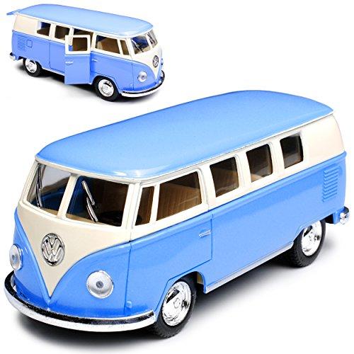 Kinsmart Volkwagen T1 Blau Creme Weiss Samba Bully Bus 1950-1967 1/32 Modell Auto
