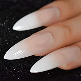 Beige Gradient French Manicure Tips Gorgeous and Classy Natural Nails Faded Nails Designed (Color : L5052)