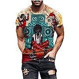 Camisetas Manga Corta Hombre Estilo éTnico Retro Tops De Hombre AlgodóN De Cuello Redondo Transpirable En Verano Short-Sleeve Crewneck Cotton Deportivo T-Shirt For Men Pullover (A11, S)