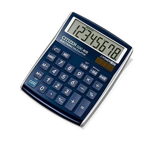 Citizen CDC80BLWB Calcolatrice da Scrivania, Blu Metallizzato