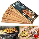 6x Planche a Griller | 37 x 14 x 1 cm Lot de 6 Planches à Fumer en Bois de Cèdre pour Barbecue |...