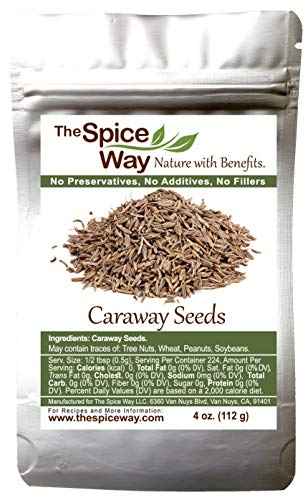 The Spice Way Caraway Seed - Whole ( 4 oz ) key ingredient in harissa, great for rye bread, pickles, sauces and spice blends.