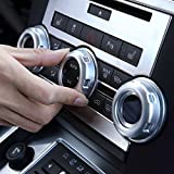 HERBEN 5pcs/Set Chrome Volume and Air Conditioning Knobs Trim for Land Rover Discovery 4 LR4 Car Accessory and...
