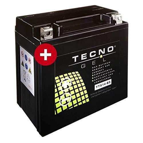 YTX14-BS TECNO Gel-Batterie für VS 1400 Intruder Baujahr 1987-2003