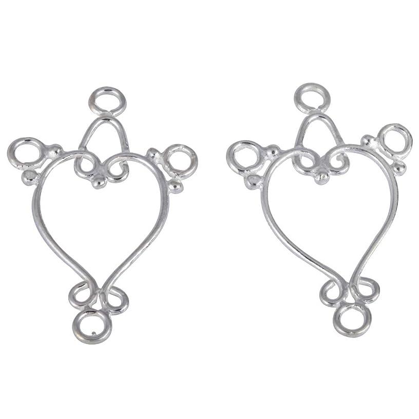 1 Pair Sterling Silver Chandelier Earring Hooks Dangle Ear Wire 30mm Earwire Connectors for Earrings Jewelry Making SS31-AA