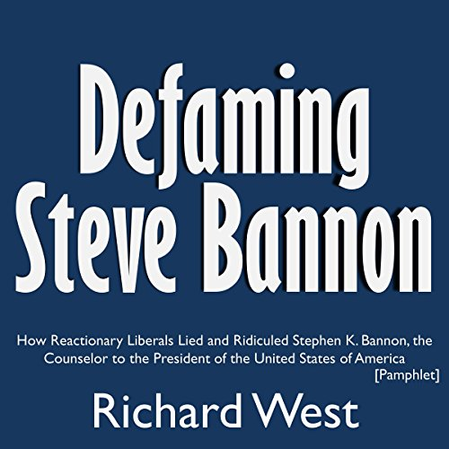 Defaming Steve Bannon audiobook cover art