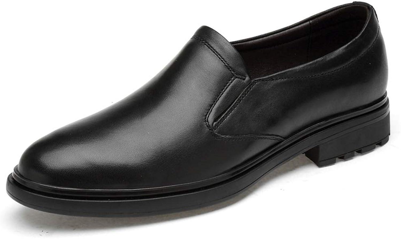 Apragaz Loafers For Men Slipon Oxfords Premium Leather Low Top Casual shoes Round Toe Breathable (color   Black, Size   5 UK)