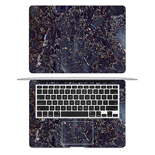 Nature Marble Grain Laptop Skin Sticker for Macbook Decal Pro Air Retina 11' 12' 13' 15' HP Mac Book Protective Full Cover Skin,AC side,Pro 16 inch