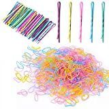 2500PCS Color Elastic Hair Bands with 50 Count Bobby Pins Set,with Storage Box,Hair Styling Pins,Mini Rubber Bands Soft Elastic Bands for Kid Hair Braids Hair,Baby Girls,Girls and Women - Multicolor