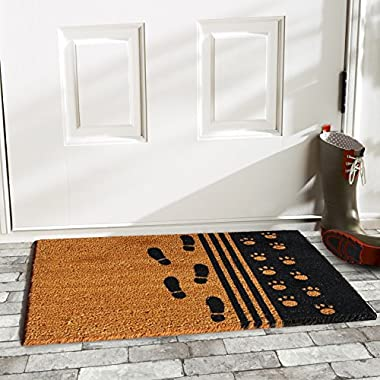 Home & More 120861729 Man's Best Friend Doormat, 17  x 29  x 0.60 , Multicolor