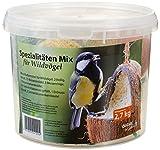 dobar Vogelfutter Spezialitäten-Mix 23-teilig im Eimer, Wildvogelfutter, Meisenknödel, Sonnenblumenkerne, 1er Pack (1 x 2.7 kg)