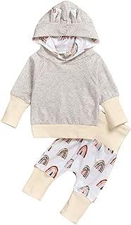 Neugeborenes Baby Neugeborene Baby M/ädchen Jungen Regenbogen Print Shirt Tops Hosen Outfits ODRD M/ädchen Jungen Body Babyschlafsack