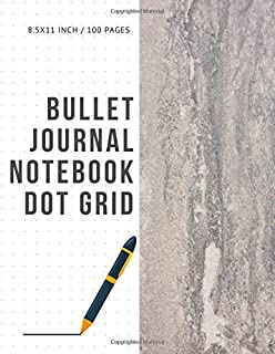 Bullet Journal Notebook Dot Grid: Cheap Composition Journals Books College Ruled To Write In Letter Paper Size 8.5 X 11 Volume 33