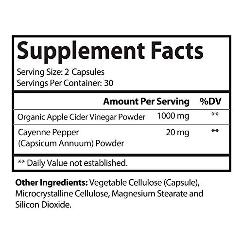 Natures Craft Apple Cider Vinegar Pills – For Weight Loss ACV Capsules Extra Strength Fat Burner Natural Supplement Pure Detox Cleanse Appetite Suppressant Immune Booster – for Women and Men 60 caps 4