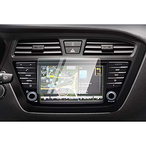 CDEFG para Hyundai i20 2015 2016 2017 2018 2019 Protector de Pantalla de Vidrio Templado, HD Auto 9H GPS Navi película protegida Glass