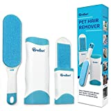 Pet Hair Remover - 1 Double-Sided Standard-Size, 1 Travel Pet Hair...