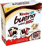 Kinder Bueno Mini Mix Box – Obleas de chocolate blanco y negro, 130 g