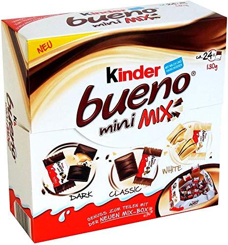 Kinder Bueno Mini Mix Box – Milch, dunkle & weiße Schokoladenwaffeln – 130 g