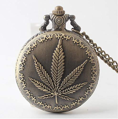 Nwarmsouth Relojes Bolsillo Números arábigos,Reloj de Bolsillo de Cuarzo Vintage, Reloj de Bolsillo de Regalo Creativo-1,Reloj Médico de Bolsillo
