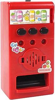 Hanbaili Máquina expendedora de Monedas para niños Máquina expendedora Hermosa Sala de plástico Rojo Educativo