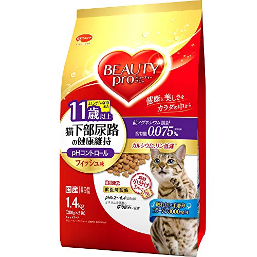 ビューティープロ ビューティープロ キャット 猫下部尿路の健康維持 11歳以上 フィッシュ味 1.4kg
