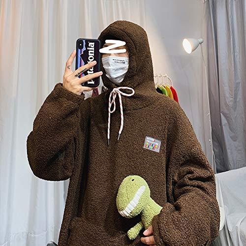 WDDGPZ1 Hair H Men'S Fashion Retro Solid Color Casual Hooded Sweatshirt Men Streetwear Wild Hip Hop Loose Hoodie Mens Hoody