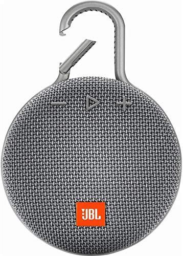 JBL CLIP 3 - Waterproof Portable Bluetooth Speaker - Gray (Renewed)