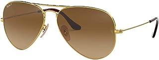 Unisex Sunglasses, Gold Lenses Metal Frame, 58mm