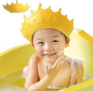FUSACONY Baby duschmössa skärm, duschmössa för barn, visir hatt för ögon och öron skydd för barn 0-9 år, söt kronform gör ...