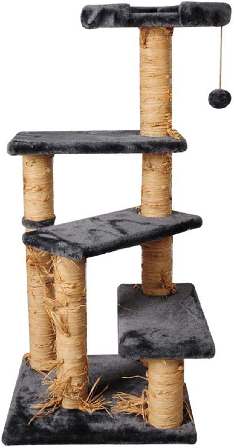 Aoligei Cat Play Towers & Trees Station Large Phillipspillar cat jumping cat toy cat Scratch stud plush toy 44  44  102cm