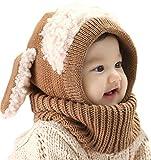 Bufandas del Bebé, Bebé Unisex-caliente Cachorro Puppy Bufanda Mantón Bebé Infantil Smart Hat (marrón)