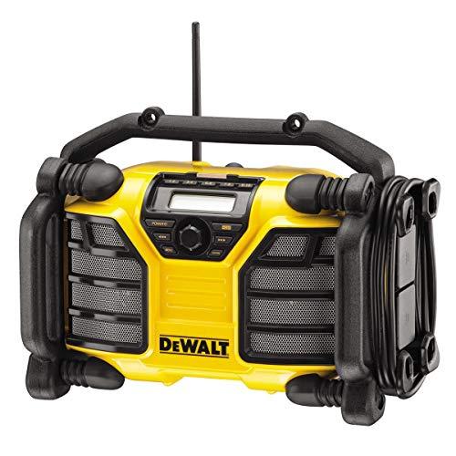 DEWALT - Radio de Chantier 10,8V, 14,4V et 18V Li-Ion - Compatible avec les Batteries XR et Secteur - DCR017-QW - Sans Fil - Avec Tuner FM et DAB Intégrés - Indicateur LED