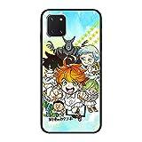 Coque fine en TPU pour Samsung Galaxy Note 10 Lite/A81/M60S-Anime The Promised-Neverland 3 Noir mat