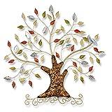 OINDMM Arte de la Pared de Metal, árbol de la Vida, Colgando Escultura de la Pared de Hierro Forjado, decoración de Pared a casa a Mano, para Dormitorio de Sala de Estar (Size : 70x60cm)