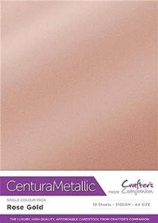 Centura Metallic Solo Color Oro Rosa Paquete de 10 Hoja-Rose Gold, Cardstock, 34.4 x 22.5 x 0.5 cm