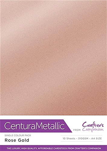 Centura Metallic Einfarbige Roségold 10 Bogenpacken-Rose Gold, Cardstock, 34.4 x 22.5 x 0.5 cm
