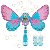 Magic Bubble Wand Bubble Blower – Blue Crefun SB9821 Musical Light Up Bubble Blaster Safe Durable Simple Handheld Bubble Machine Bubble Toys for Girls Party Favors Birthday Including 2 Bubble Solution