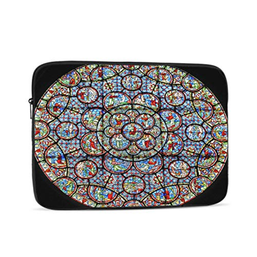Mac Book Pro Covers Bright Foreign Style Rose Window Mac Book Pro Covers Multi-Color & Size Choices10/12/13/15/17 Inch Computer Tablet Briefcase Carrying Bag
