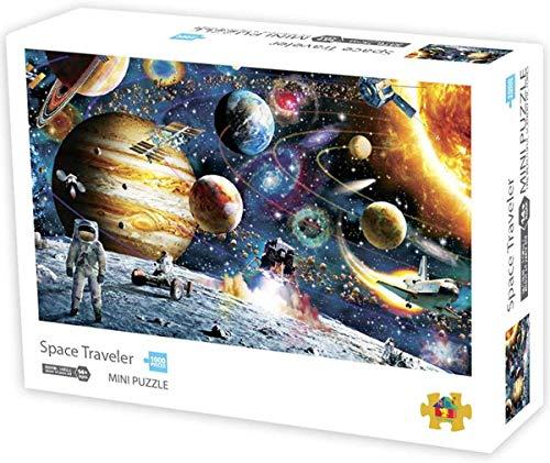 Herize Mini Puzzle 1000 Teile - Planeten im Weltraum für Erwachsene, Puzzle für Kinder, Kinderpuzzle Spiele ab 8 Jahren, Spielzeug für Mädchen Jungen Teenager, Geschenke für Mama Papa, 42*29.7CM.