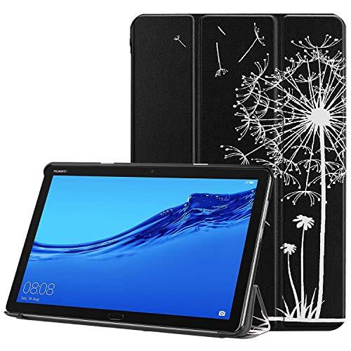 Handyhülle Zubehör, Eule Schmetterling Blume Löwenzahn Eiffelturm Design Tablet Ständer mit Auto Schlaf / Wake für Huawei MediaPad M5 Lite 10 Modell BAH2-W19 / BAH2-L09 (2018 Release) ( PATTERN : 5 )